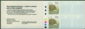 NZ Booklet SGSB51 $4 Brown Kiwi Booklet cont. SG1463 3 Kiwi 'NZ Stamps' optd 'Stamp World 1990'